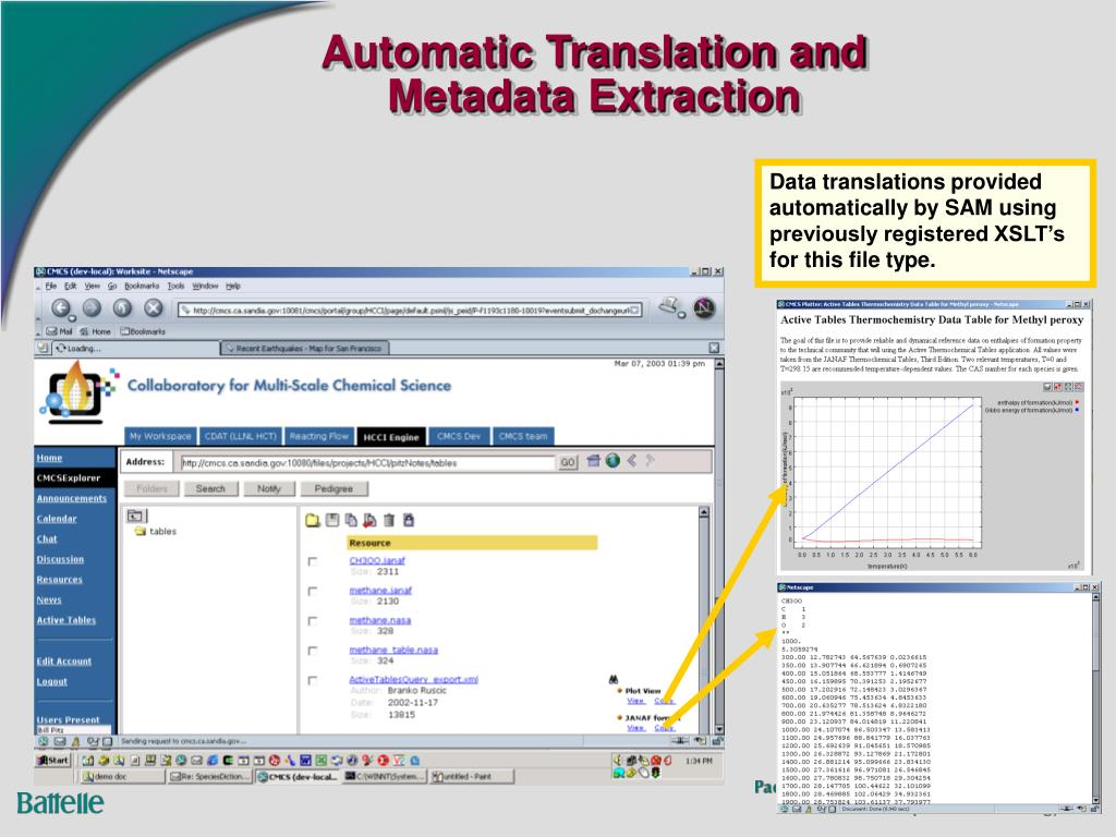 Automatic Translation and Metadata Extraction