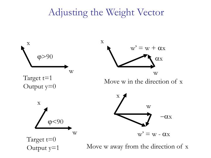 Adjusting the Weight Vector