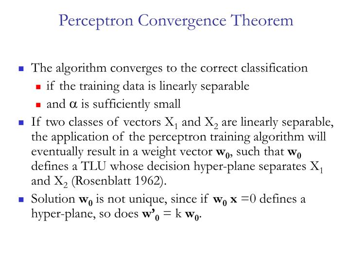 Perceptron Convergence Theorem