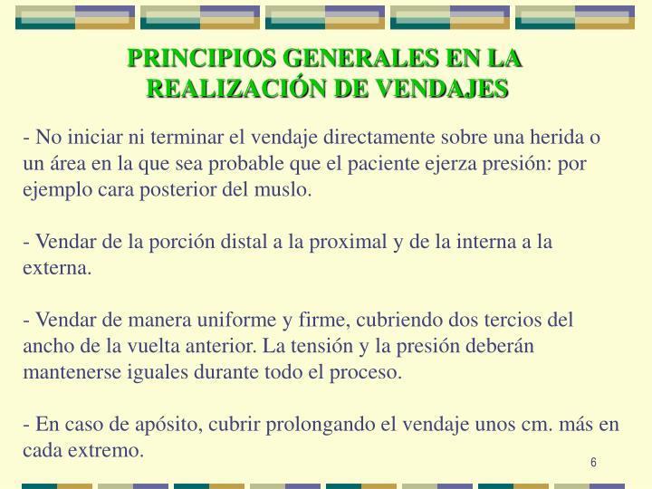 PRINCIPIOS GENERALES EN LA