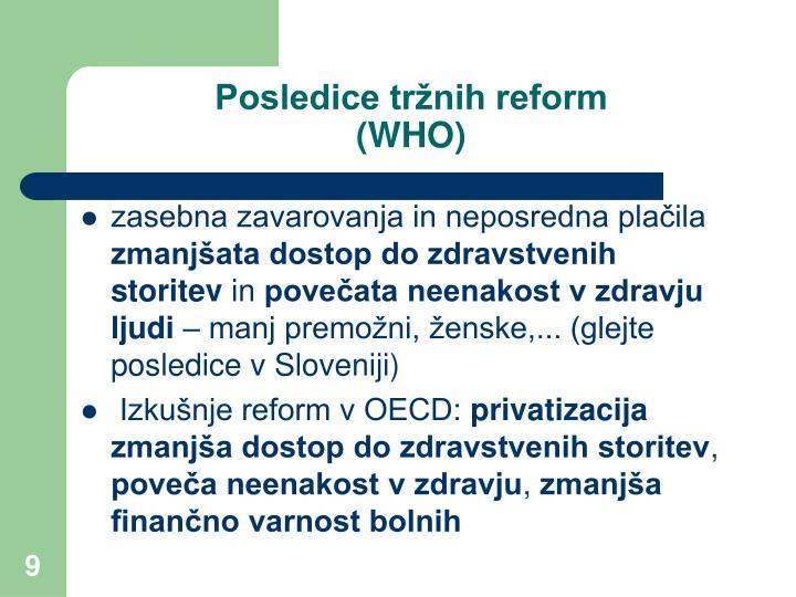 Posledice tržnih reform
