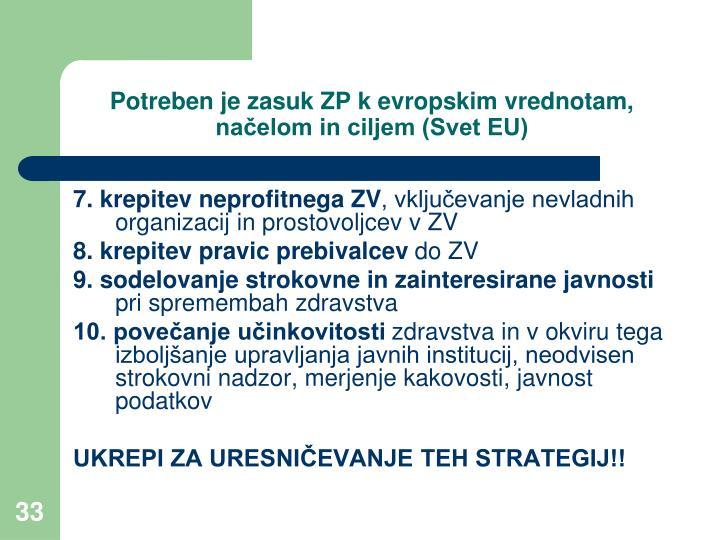 Potreben je zasuk ZP k evropskim vrednotam, načelom in ciljem (Svet EU)