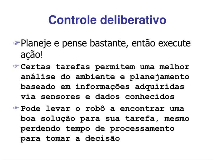 Controle deliberativo