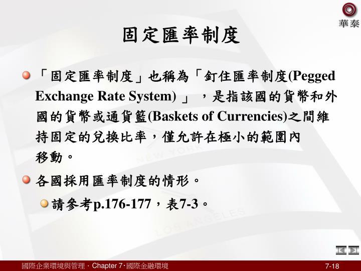 固定匯率制度