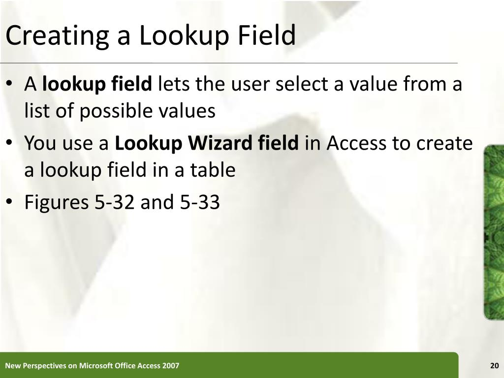 Creating a Lookup Field