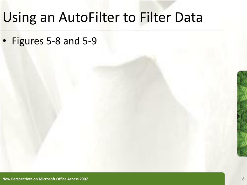 Using an AutoFilter to Filter Data