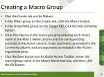 creating a macro group