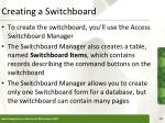 creating a switchboard