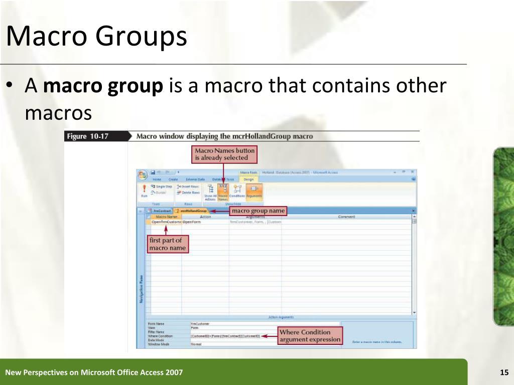 Macro Groups