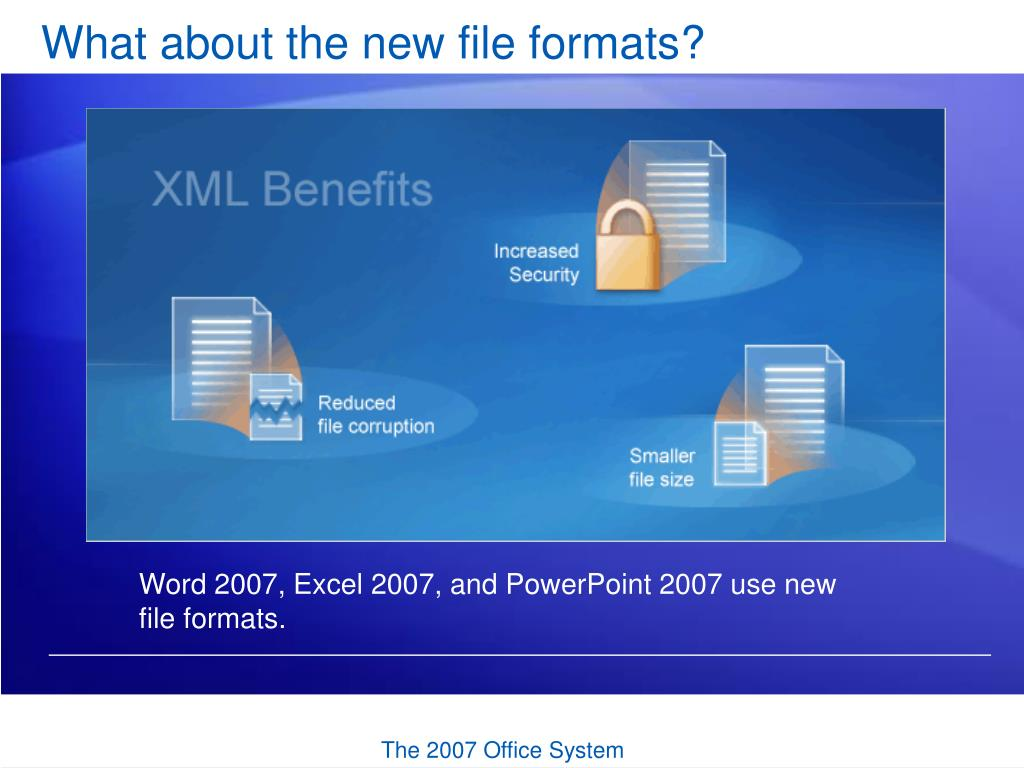 What about the new file formats?