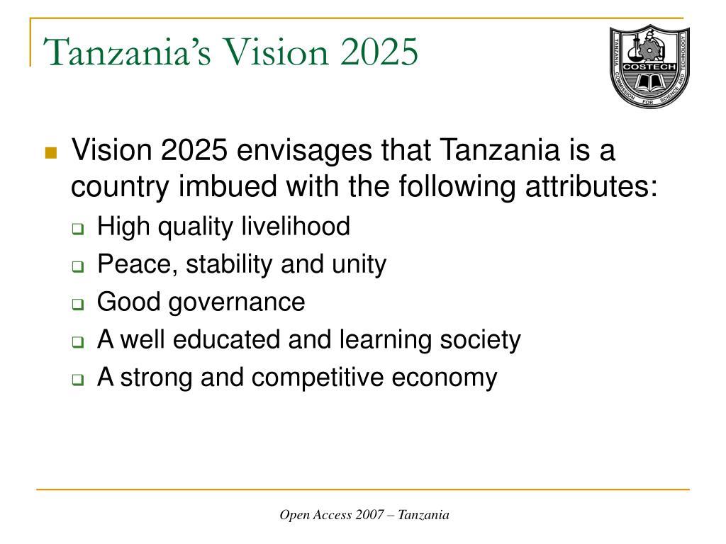 Tanzania's Vision 2025