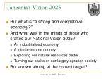 tanzania s vision 20255