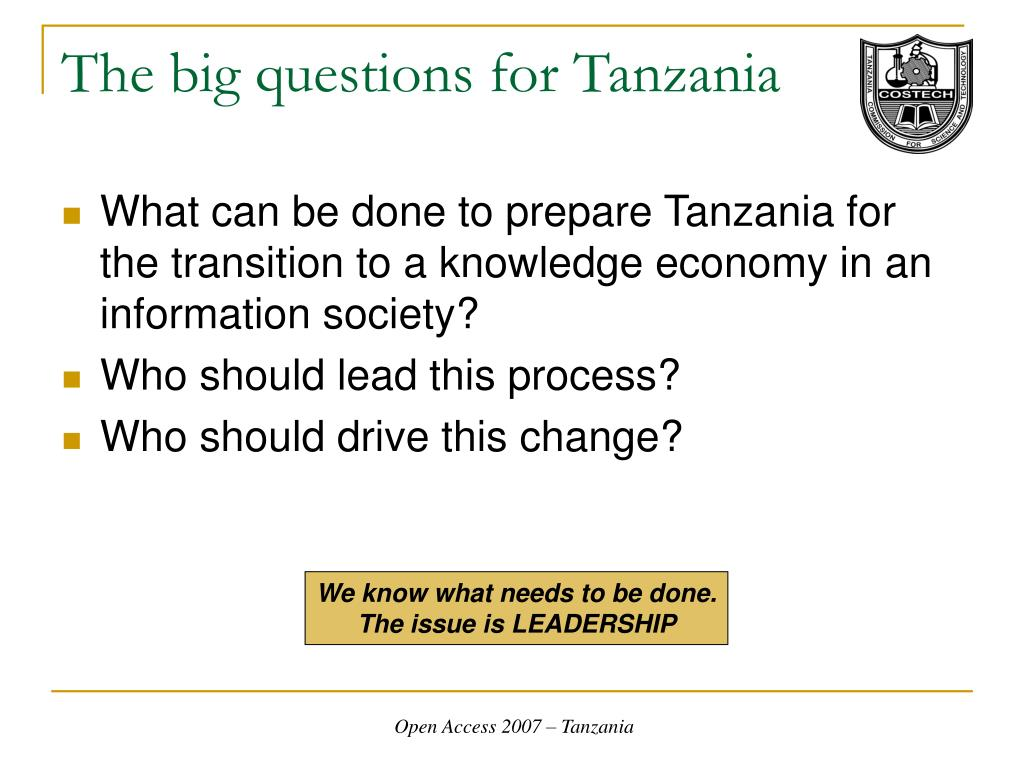 The big questions for Tanzania