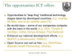 the opportunities ict offers