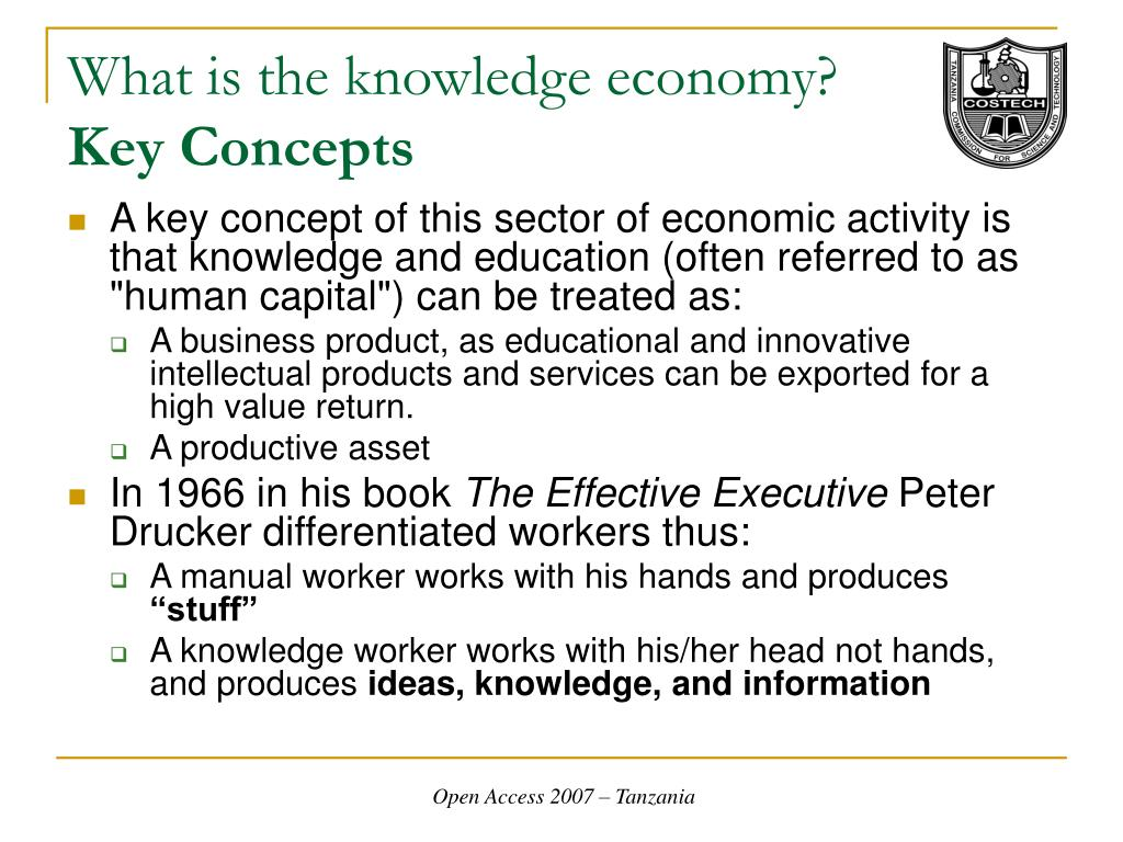 What is the knowledge economy?