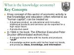 what is the knowledge economy key concepts