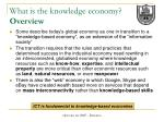 what is the knowledge economy overview