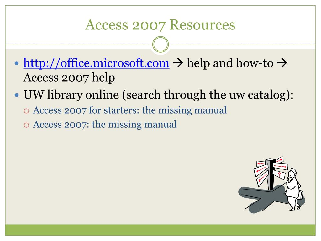Access 2007 Resources