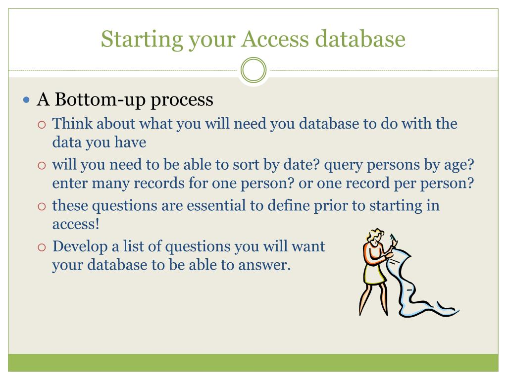 Starting your Access database