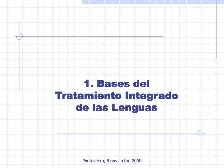 1. Bases del Tratamiento Integrado de las Lenguas