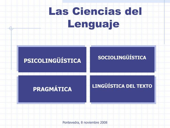 Las Ciencias del Lenguaje