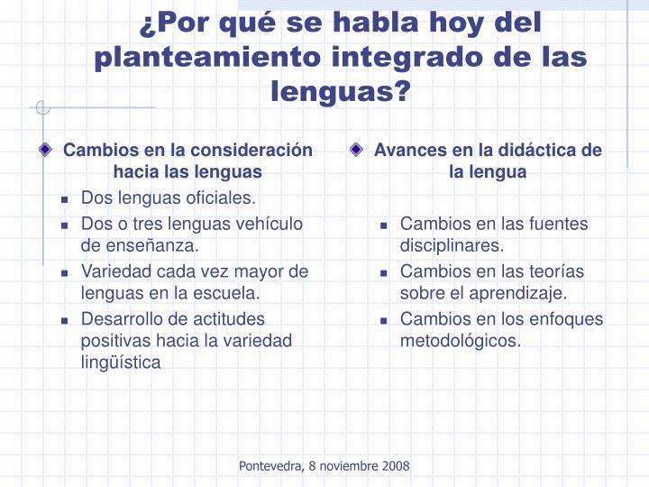 Cambios en la consideración hacia las lenguas