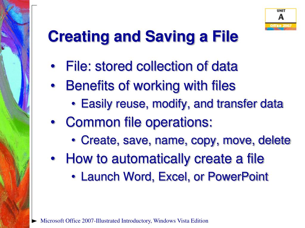 Creating and Saving a File
