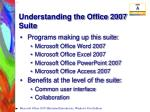 understanding the office 2007 suite