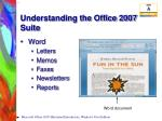 understanding the office 2007 suite6
