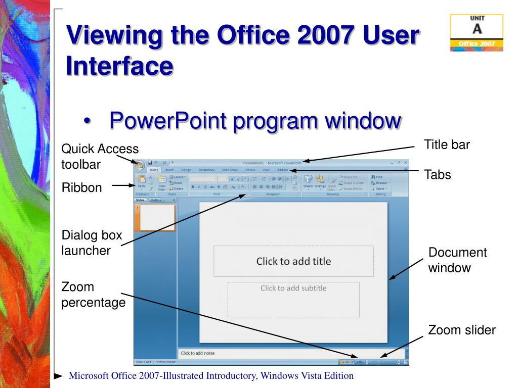 Viewing the Office 2007 User Interface