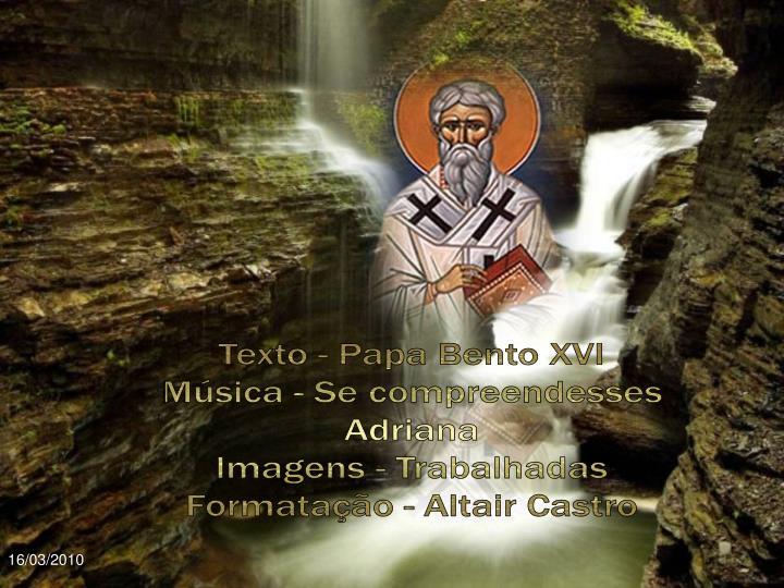 Texto - Papa Bento XVI