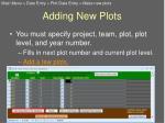 adding new plots