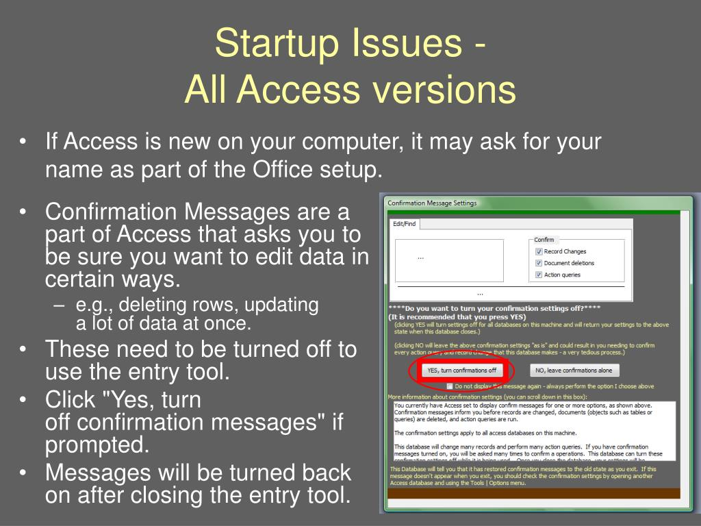 Startup Issues -