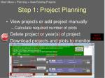 step 1 project planning