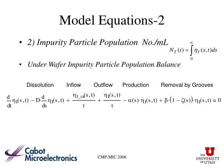 Model Equations-2