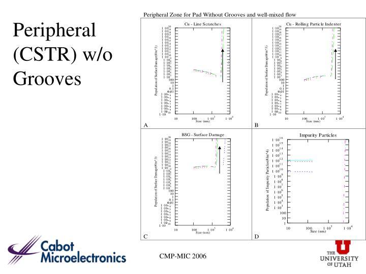 Peripheral (CSTR) w/o Grooves