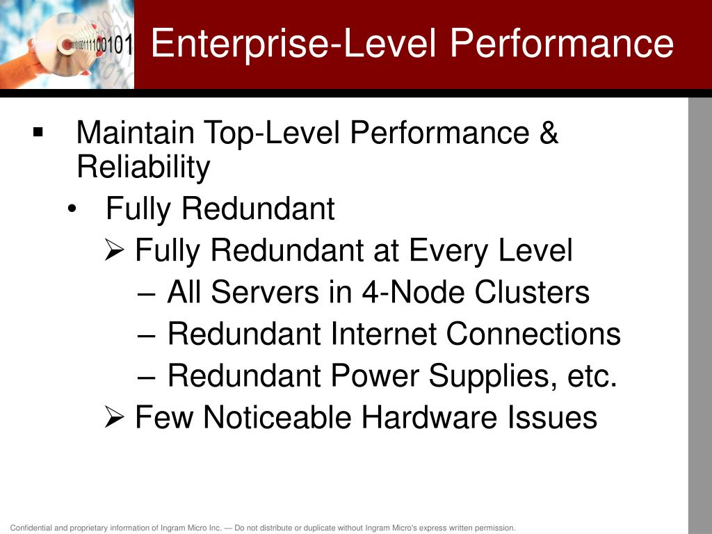 Enterprise-Level Performance