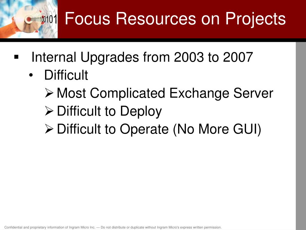 Focus Resources on Projects