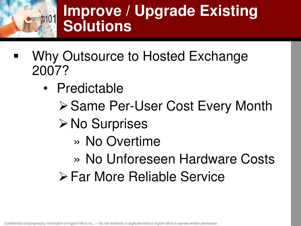 Improve / Upgrade Existing Solutions