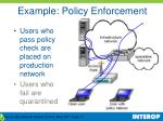 example policy enforcement