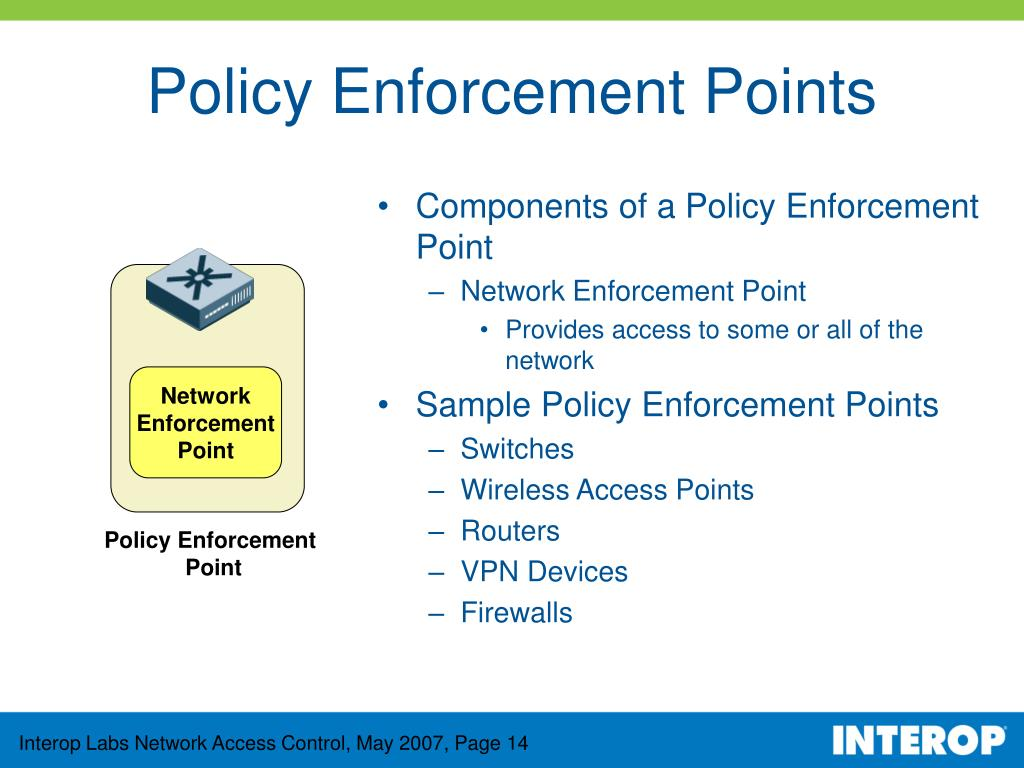 Components of a Policy Enforcement Point