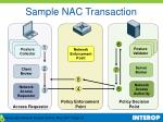 sample nac transaction