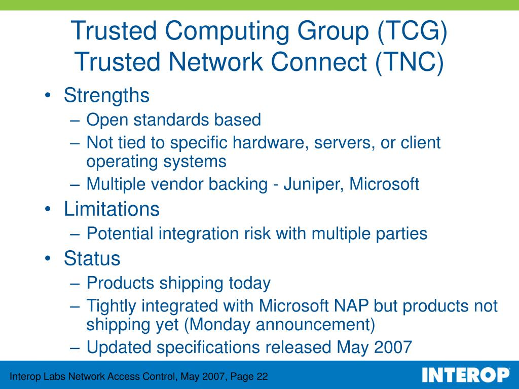 Trusted Computing Group (TCG)