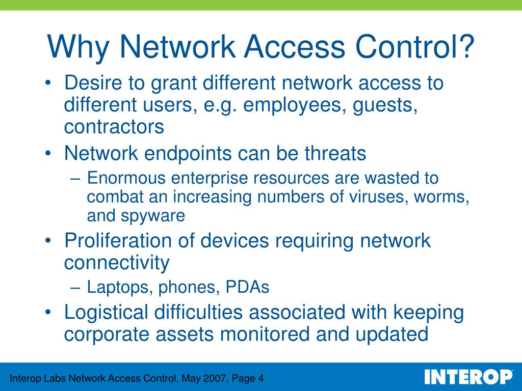 Why Network Access Control?