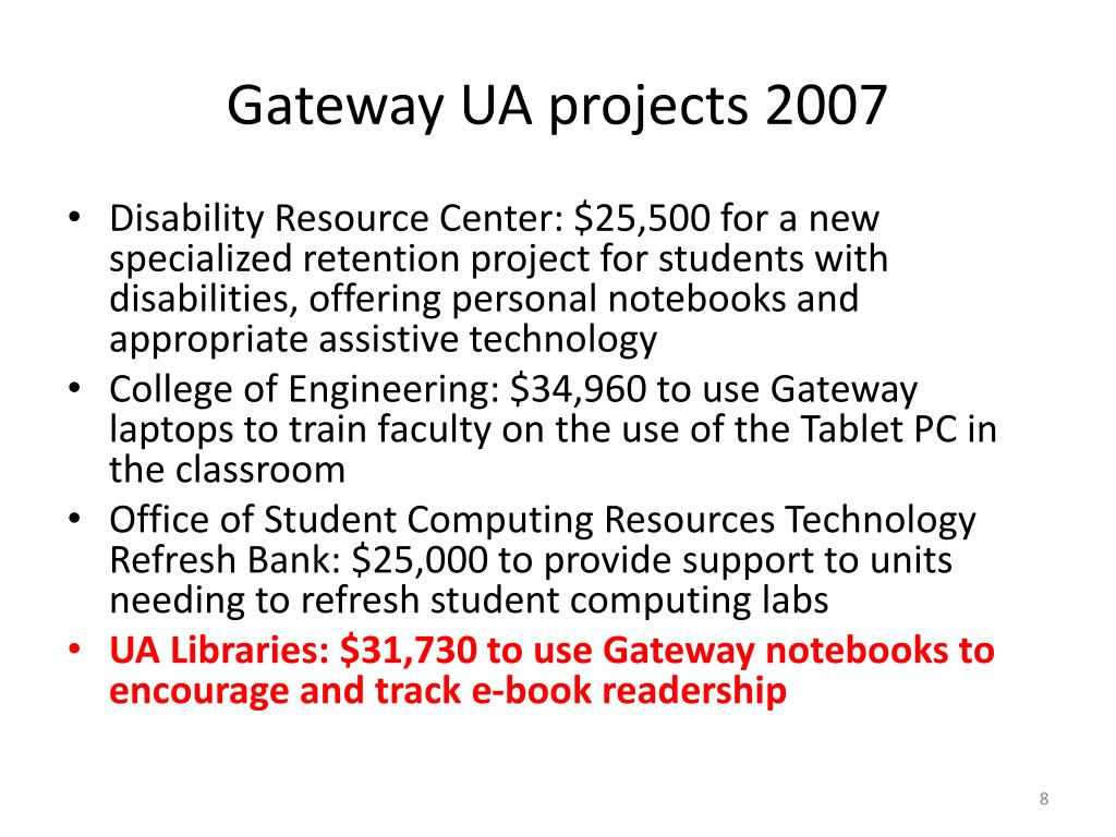Gateway UA projects 2007