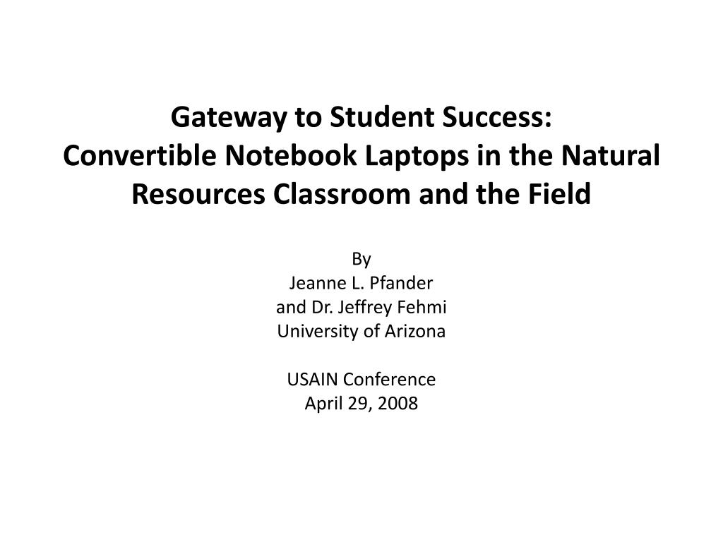 Gateway to Student Success: