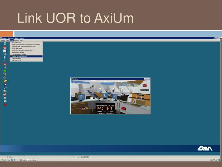 Link UOR to AxiUm