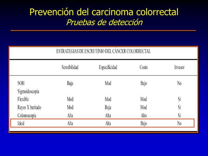 Prevención del carcinoma colorrectal