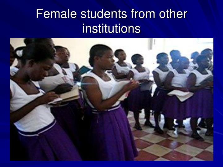 Female students from other institutions
