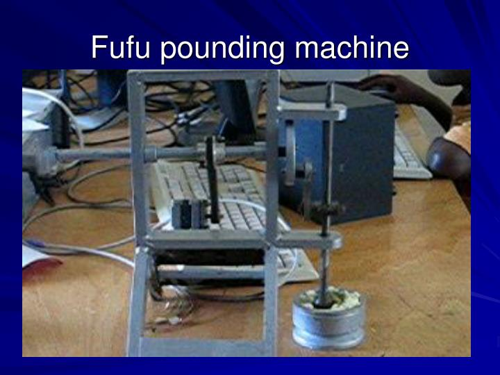 Fufu pounding machine
